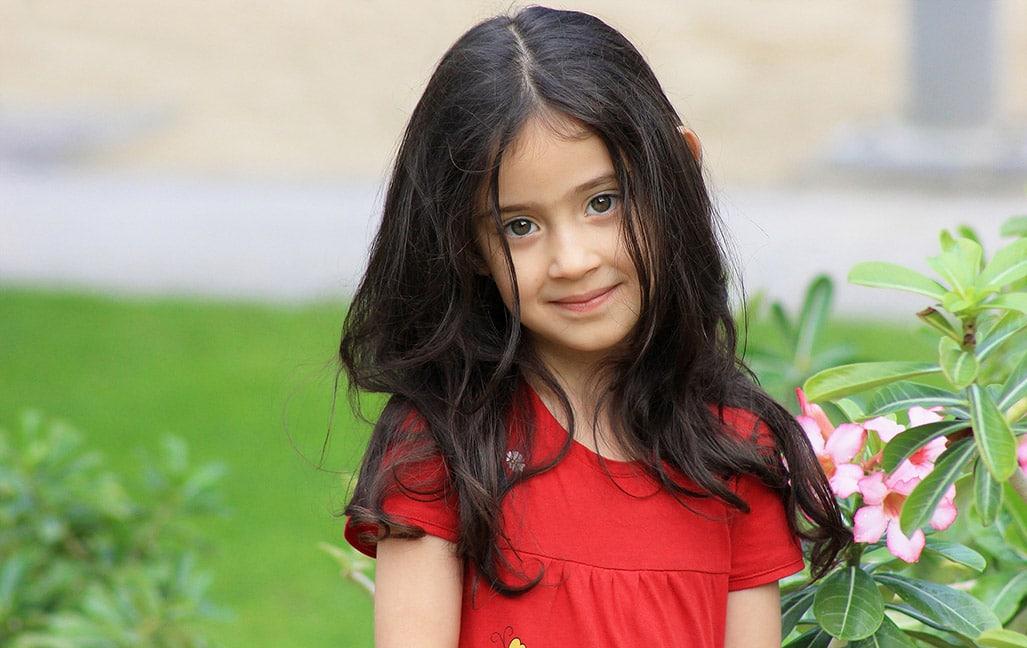 Photo of a girl outside